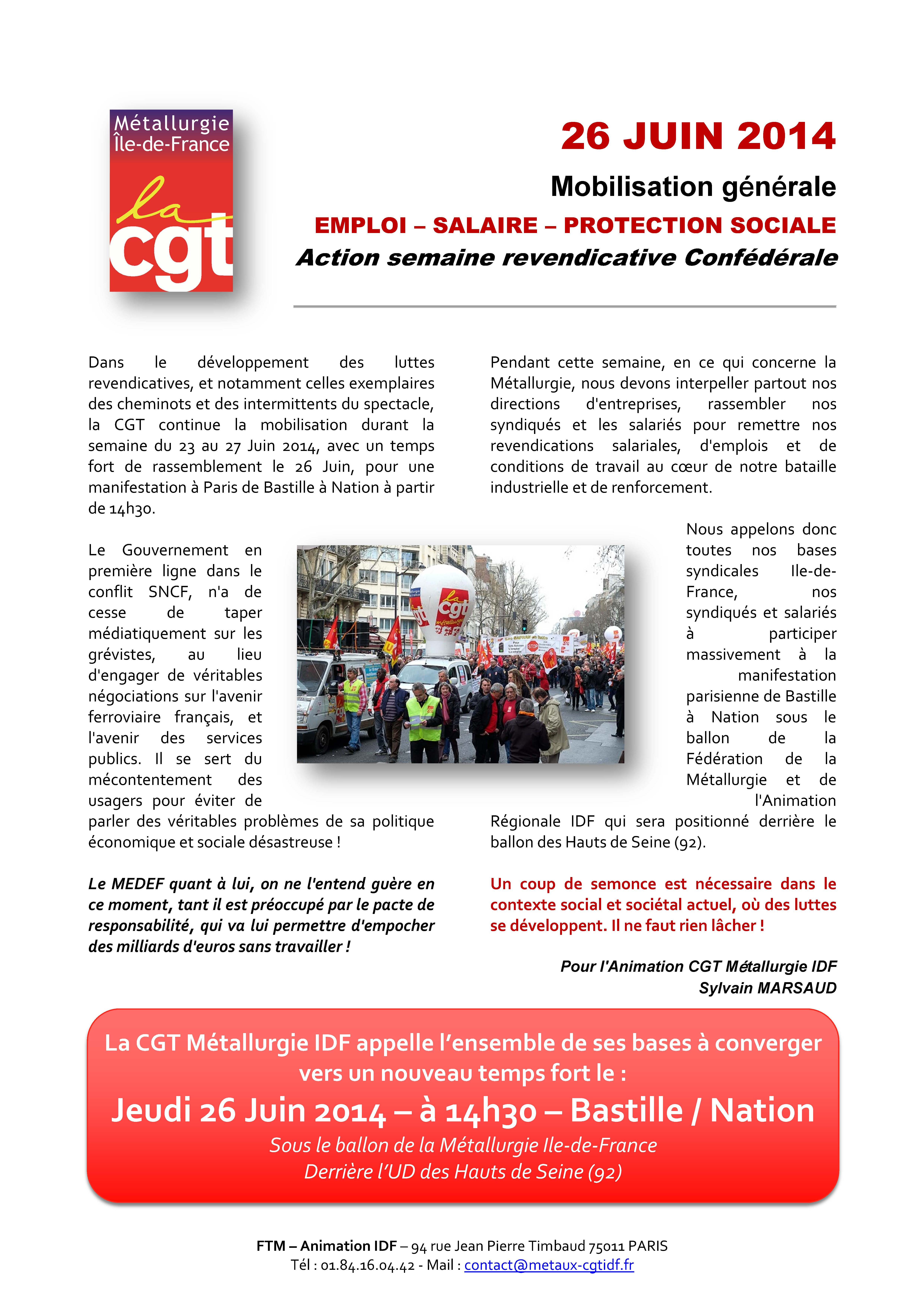 Mobilisation Générale du 26 Juin 2014